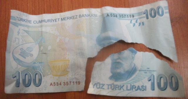 Yırtık Para, hasarlı para, hasarlı banknot