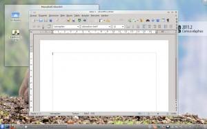 LibreOffice Kelime İşlemci, öntanımlı görünüş