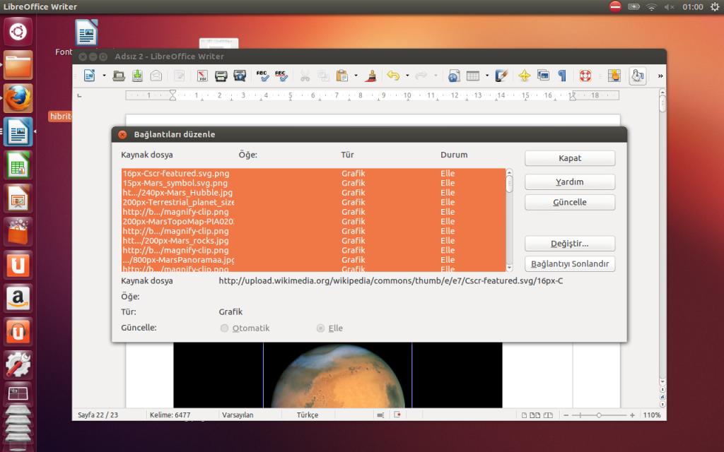 LibreOffice içerisine internet sayfalarından içerik kopyalarken resim bağlantılarını kaldırmak