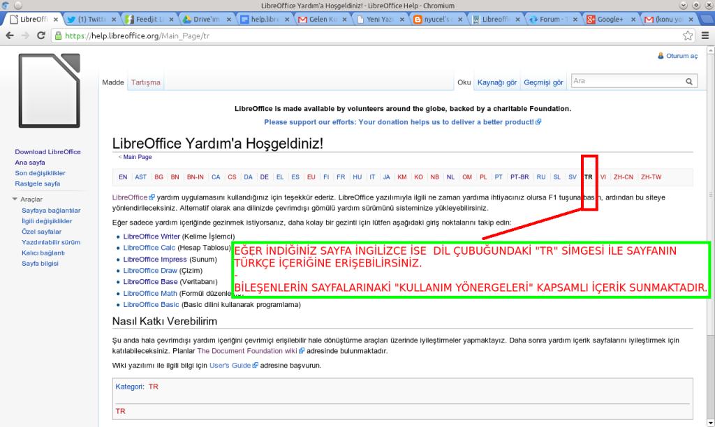 LibreOffice Çevrimiçi Yardım İçeriği Türkçe Olarak Yayında!