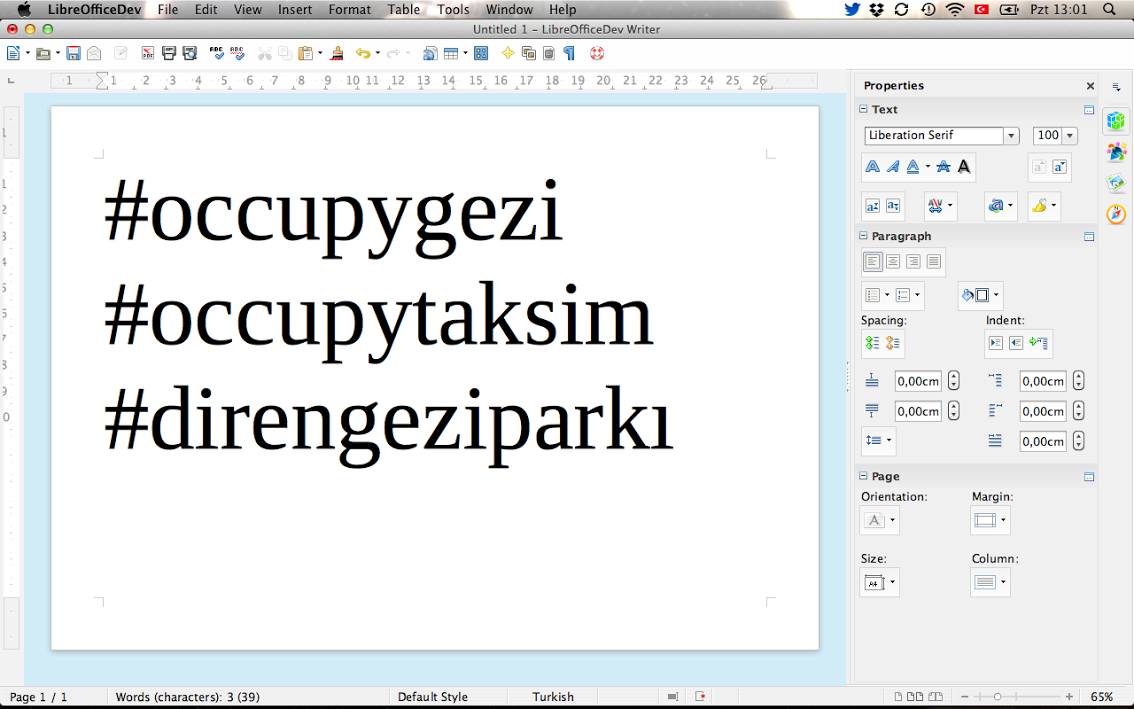 LibreOffice 4.1. Yeni Yan Panel