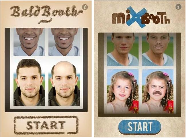 Baldbooth ve Mixbooth ile fotoğrafları harmanlayarak eğlenceli vakit geçirebilirsiniz.