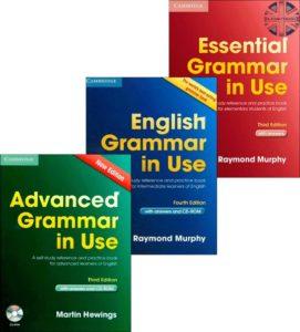English Grammar in Use - Başlangıç, orta ve ileri seviyeler (yukarıdan aşağı sıralı)