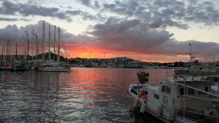 Bodrum Limanı'nda Günbatımı